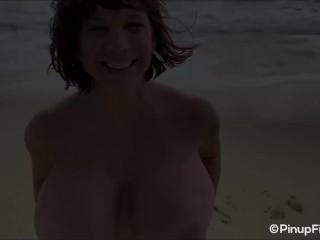 curvy brittany elizabeth brings her curves to hawaii