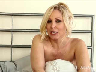 Busty MILF Of The Year Julia Ann Tells You How To Jerk Off!