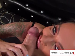 FirstClassPOV Juelz Ventura throating a monster manhood, elastic booty & humungous bosoms