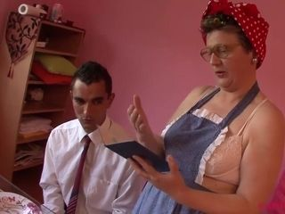 Amateurs Naughty granny and bad boy