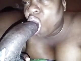 My Homie's Grandma EATS MY BIG DICK up