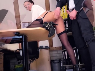 LETSDOEIT - Lusty black haired German babe gets banged by