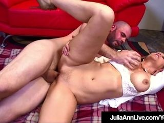 Insane cougar professor Julia Ann gargles & screws Her Pupil!