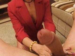 Secretary Deepthroat and Sensual Anal Fuck after Work - Cum