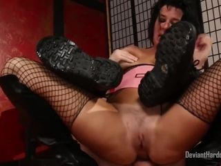 Big boobed milf in black boots, Veronica Avluv and her man are trying out anal sex
