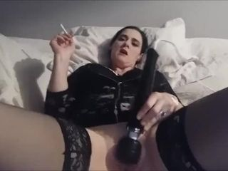 Blinding cougar Smoking And stroking For Her paramour