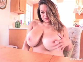 Busty MILF Monica Mendez strips for social media|1::Big Tits,17::Fetish,20::MILF,38::HD,57::Brunette