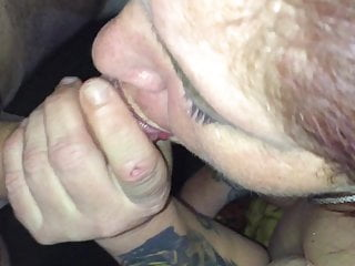 Joy with Mature plus-size fellatio guzzle