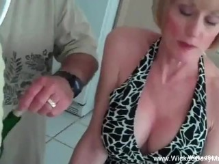 3some For Horny Blonde Amateur GILF|1::Big Tits,4::Blowjob,6::Amateur,17::Fetish,20::MILF