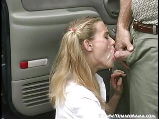 Yummy Mama Gets Facial From Teacher