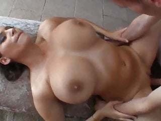 Submissive MILF with Huge Boobs Sauna Sex