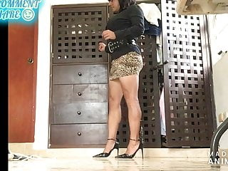 Sexy hot legs in  mini skirt and strappy high heels