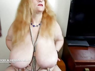 Wife with huge tits and belly is nipple tortured