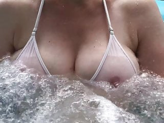 Second most inspirational video of boobs in jacuzi