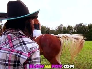 Blow Me POV - Horny Country MILF Giving BJ outside