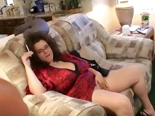 Charlie Cooper in living room smoking and being naughty rare