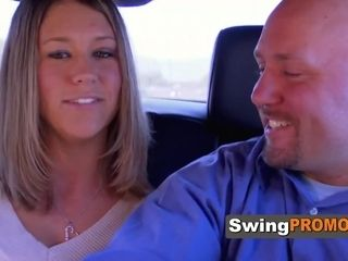 Shaved spouse and wifey cant believe they are in Vegas for Swingers soiree