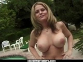 """MomsWithBoys - Big Tit Blonde MILF Fucking Outdoors For Fun"""