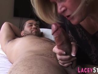 Mature cock gobbling brit gets fingered