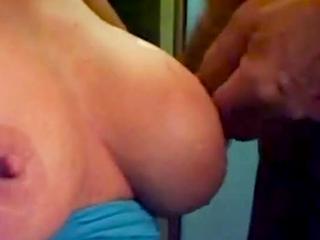 Cum on tits