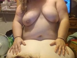 'BBW wife uses strap on to fuck PAWG gf from behind while she sucks my cock'