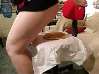 Wife Ass Sits on Pie
