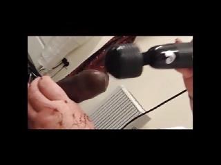 SSBBW Milf Big Black Cock Wand Vibrator Tease