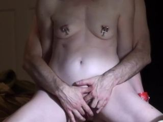 Sexy Fit Submissive Wife With Perfect Tits Gets Clamps on Fat Pink Nipples