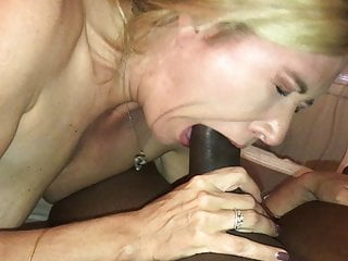 Cheating deep-throating big black cock
