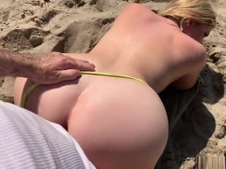 Step-mother on vaca entices sonnie on the beach (POV)