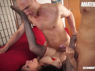 AmateurEuro - Sexy Italian MILF Double Penetrated While Husband is At Work|5::Anal,20::MILF,22::Gangbang,28::Double Penetration,38::HD,57::Brunette,60