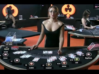 Sexy Milf Dealer(Croupier) Holly  Online Blackjack