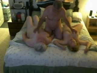 Granny watches how her husband fucks her best friend
