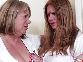 AgedLovE Auntie Trish and Lily May Milf BBC Riding
