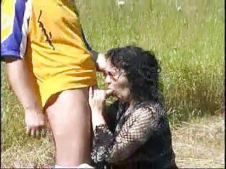 BBW Granny open-air sexual intercourse