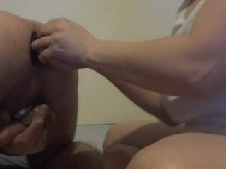 Femdom wife fucking her submissive man's hot ass