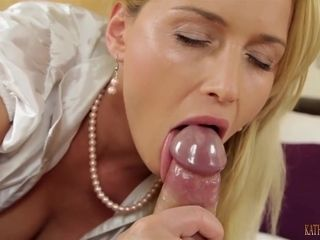 Seductive Blonde Is Giving An Impressive Blowjob To Her Ex Just To Hear His Moans And Sighs