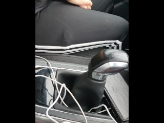 Step mom in leggings caught fucking step son in the car without condom
