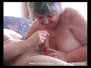80 realm age-old Grandma Libby fucks pubescent pal