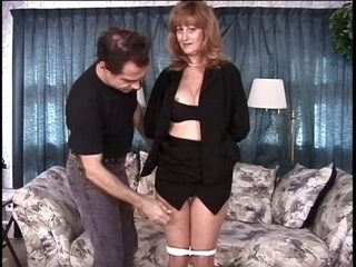Older large bumpers dark brown has her snatch teased by her dom