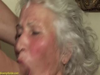 Grandma in her first-ever pornography vid