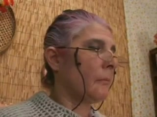 Granny with glasses fucked and facialized