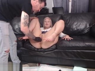 Blonde Masochist Fisted by a Meanie