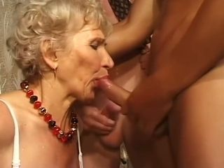 Gilf gets banged with 3 boys cumshots