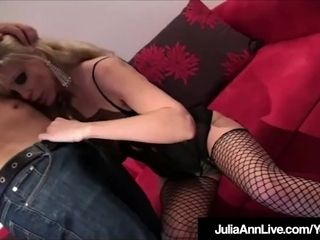 Bang-out Craved milf Julia Ann rails bone In undergarments!