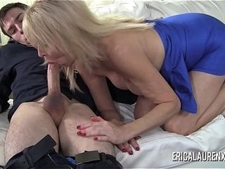 Porn industry star cougar Erica Lauren has a thing for junior guys