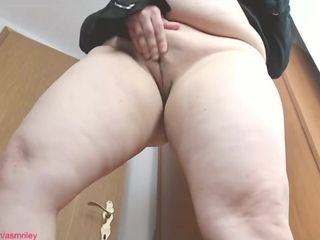 Plumper attempting on underpants II, Giantess Fetish, thong Fetish, bootie idolize