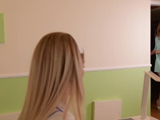 Nurse & patient girly-girl romp at the medical center with Ani Blackfox & Nikky fantasy