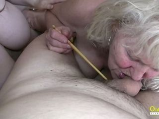 OldnannY buxom obese Matures toying with beefstick