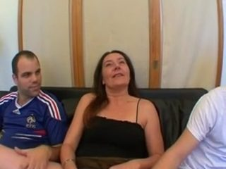 French housewife Barbara gangbanged